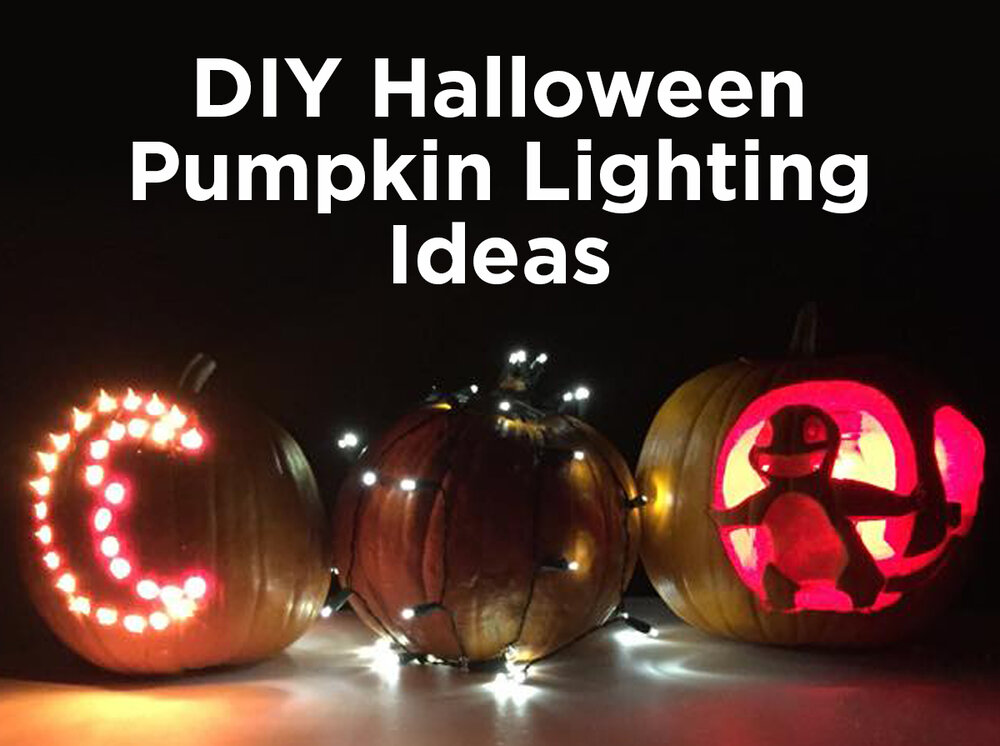diy halloween pumpkin lighting ideas h i