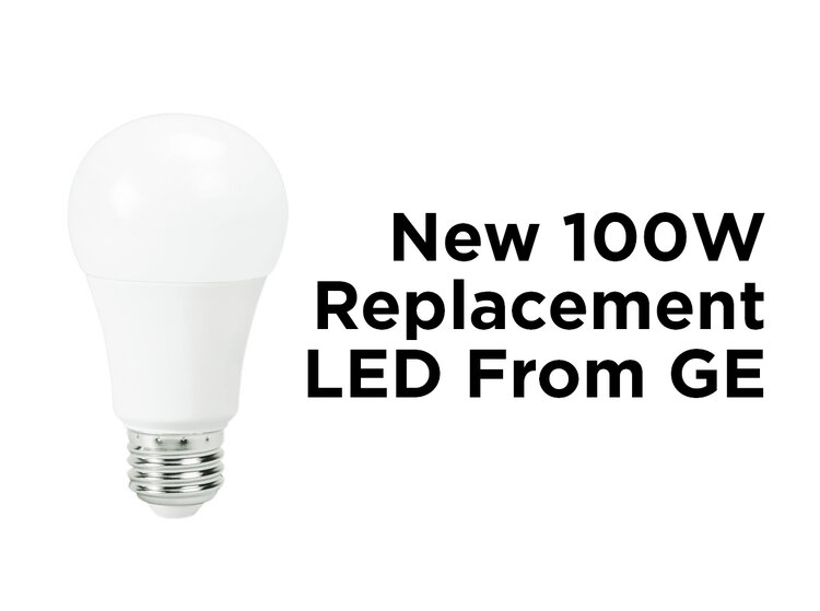 new 100w replacement led from ge