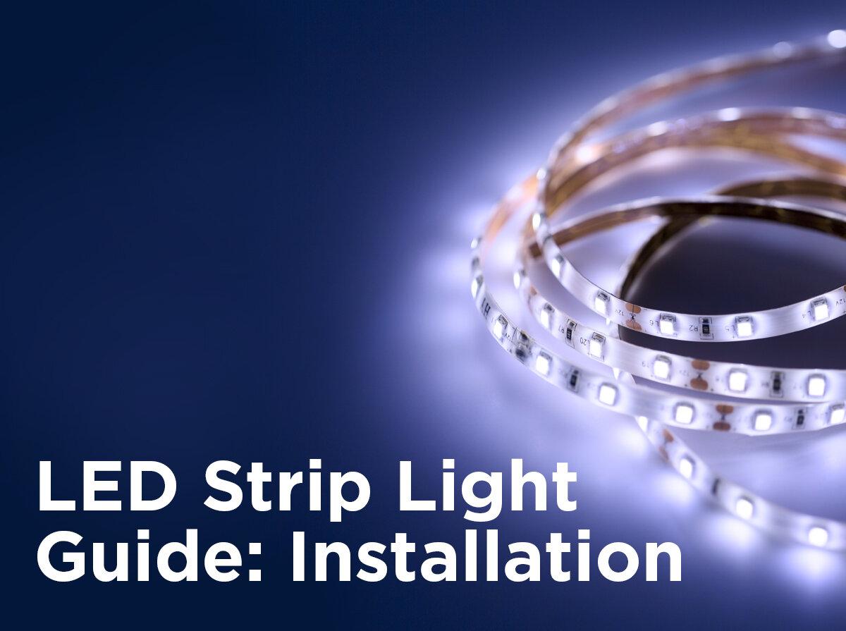 Led Strip Light Guide Installation 1000bulbs Com Blog