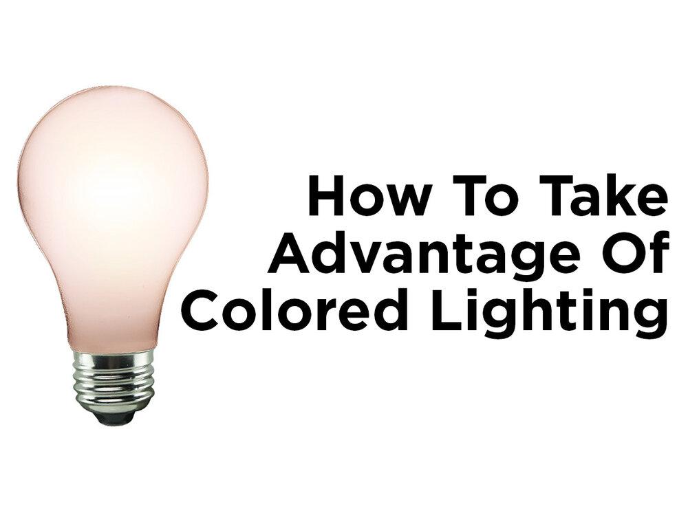 how to take advantage of colored lighting blog. Black Bedroom Furniture Sets. Home Design Ideas