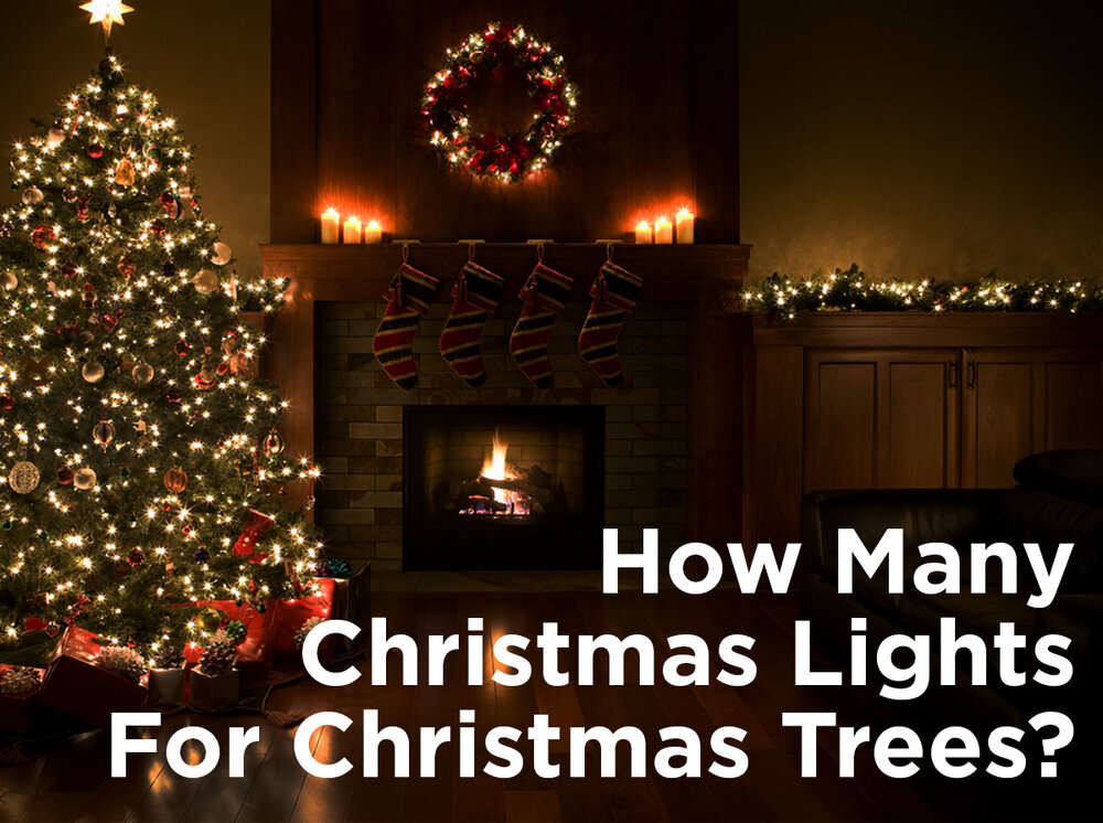 how many christmas lights for christmas trees