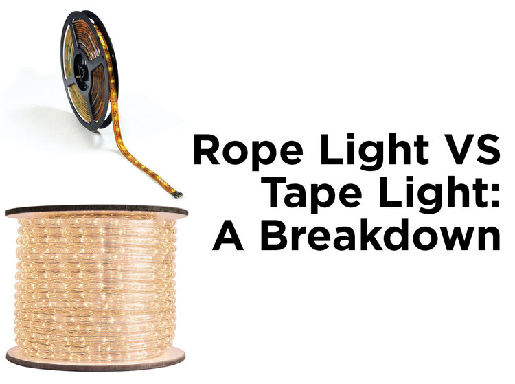 Rope light vs tape light which is better 1000bulbs blog rope light vs tape light a breakdown aloadofball Choice Image