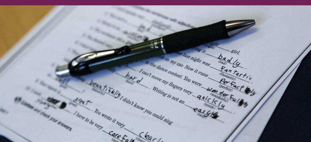 WE PROVIDE  English Language Education