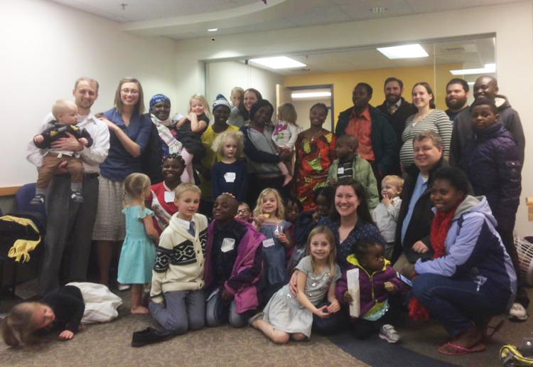 On Jan. 24, 2017, Lowell community members and three newly- arrived Congolese families gathered for a meal at IINE-Lowell's site office. The potluck meal was hosted by the local Church of Jesus Christ of Latter-Day Saints.