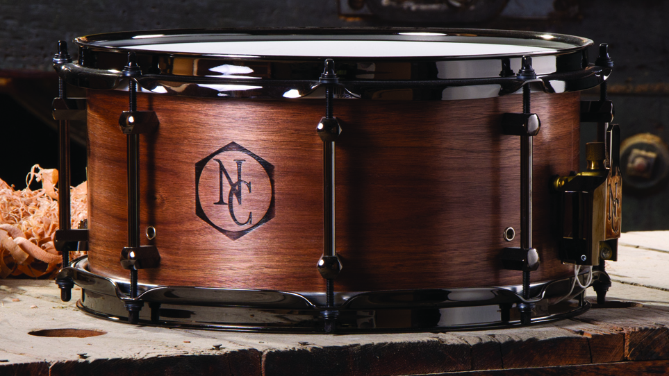 Walnut 6.5 x 13 Natural Wood Burn Logo and Black Chrome Hardware