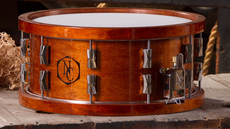 6.5 x 14 CD Maple Honey Maple with Wood Hoops