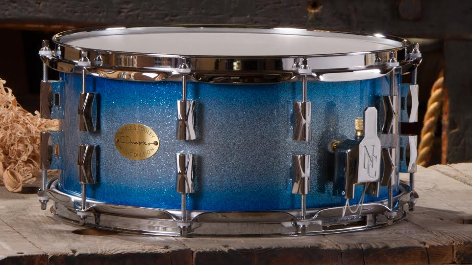 Copy of CD Maple 6.5 x 14 Blue Burst Sparkle