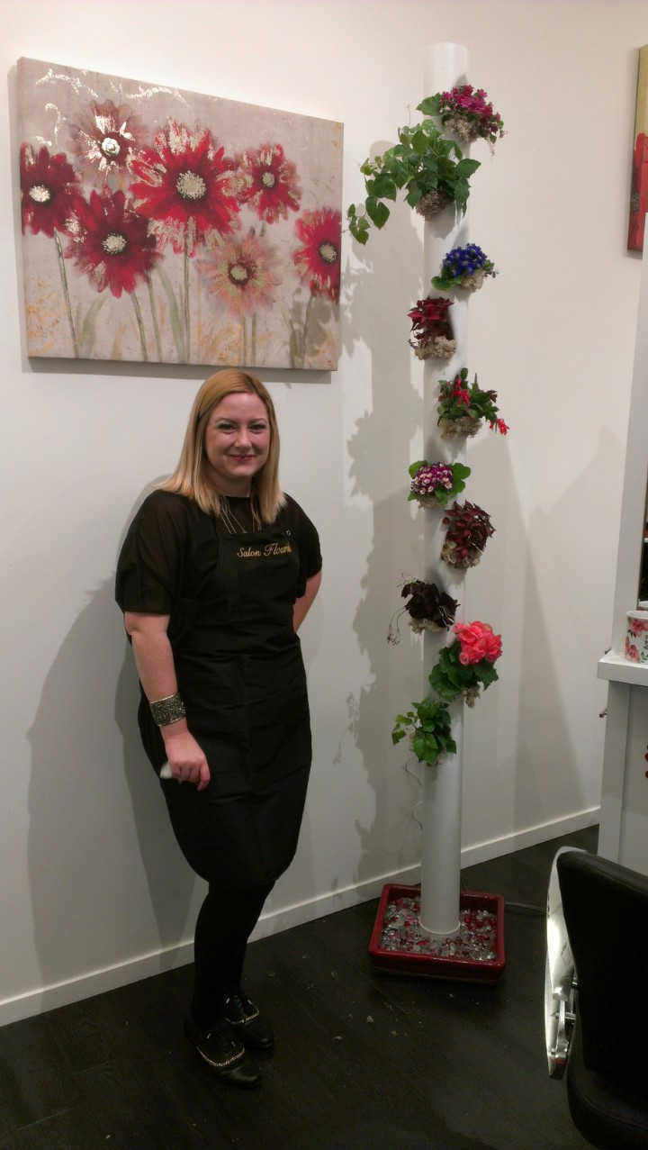 Aergrow system at Salon Flourish with owner Karen Flowers