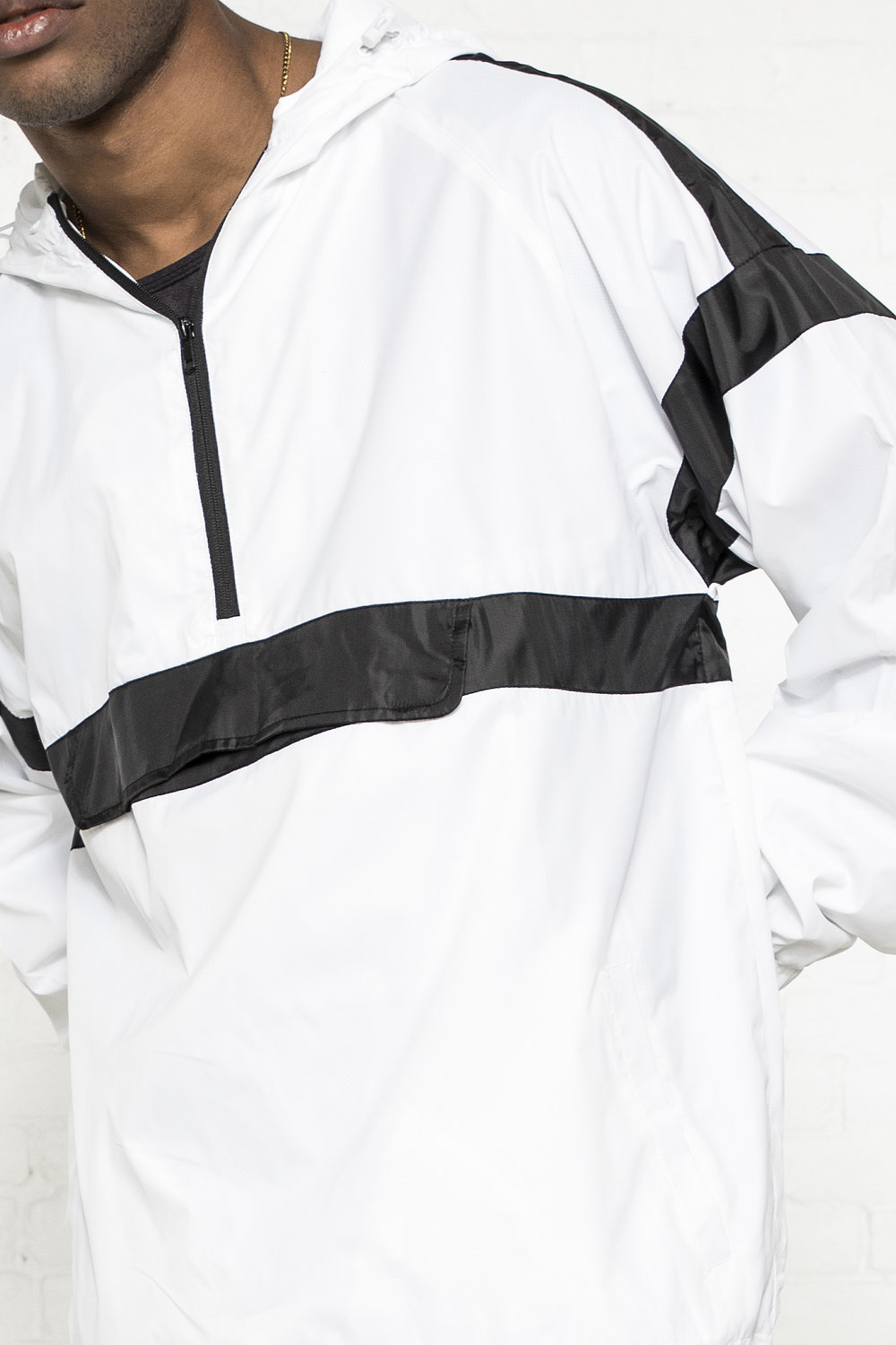 PANELED WINDBREAKER