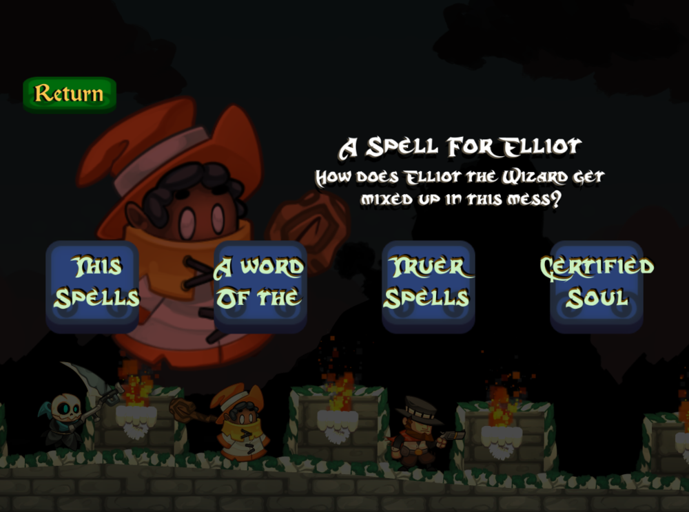Elliot the wizard's dedicated chapter level select WIP