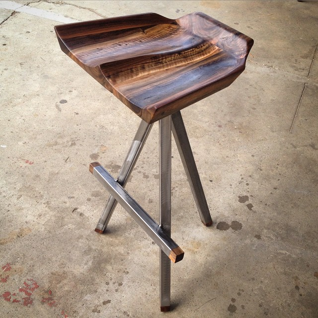 Sculpted Bar Stool