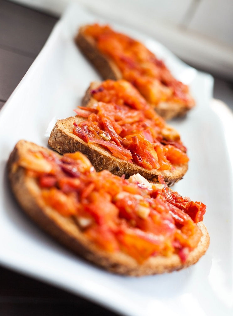 simple savory tomato toast