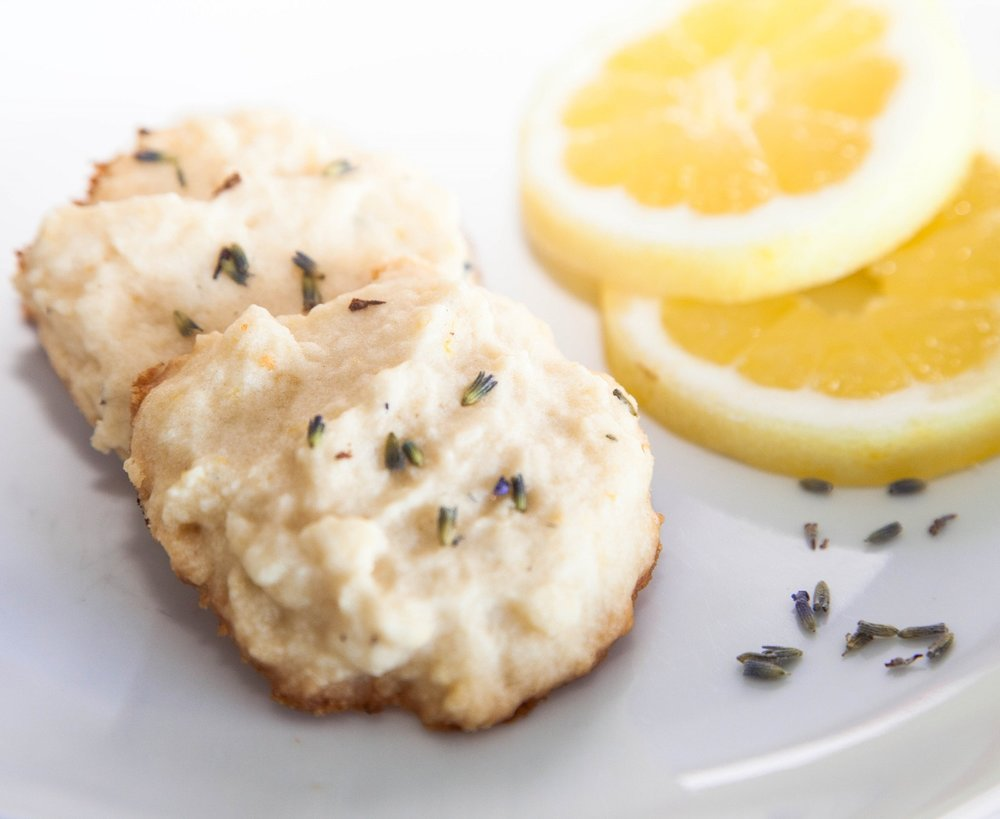 zesty lemon lavender shortbread cookies