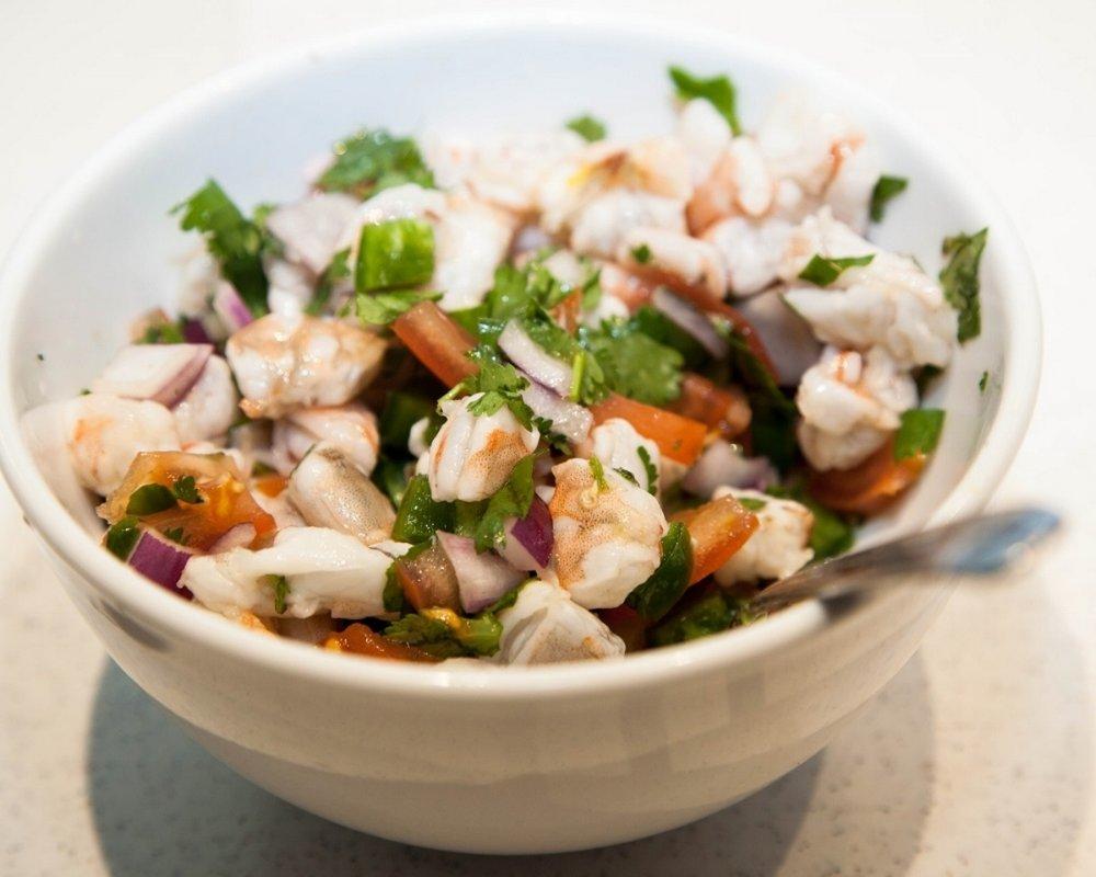 fresh shrimp ceviche