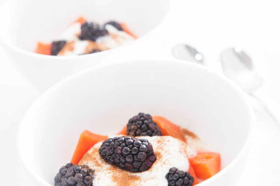 papaya breakfast parfait