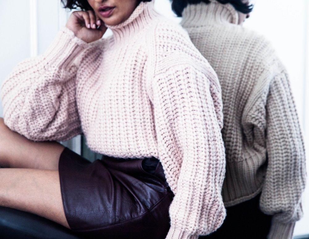 dressing with chunky knits