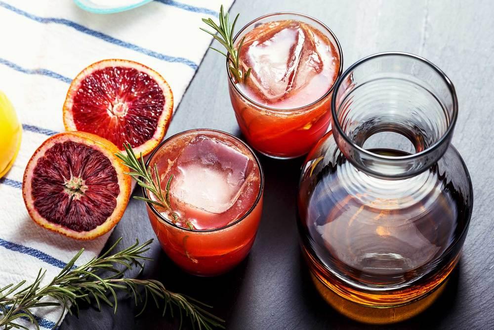 Blood Orange Rosemary Sour