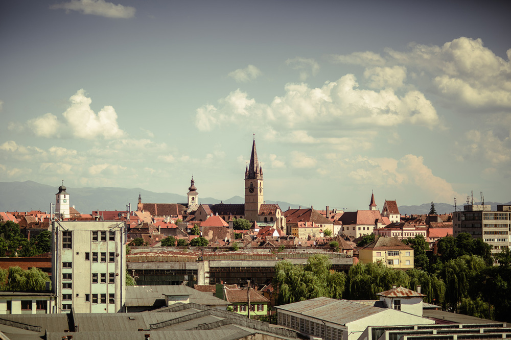 Downtown Sibiu from the old Industrial district