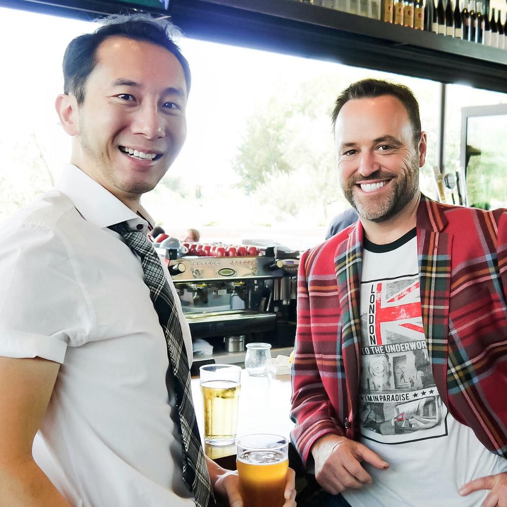 right President & CEO Kurt Gardner + left Vice President Danny Chen