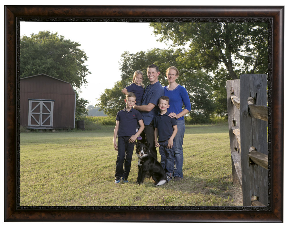 Your farm or ranch is a wonderful place for a family portrait.