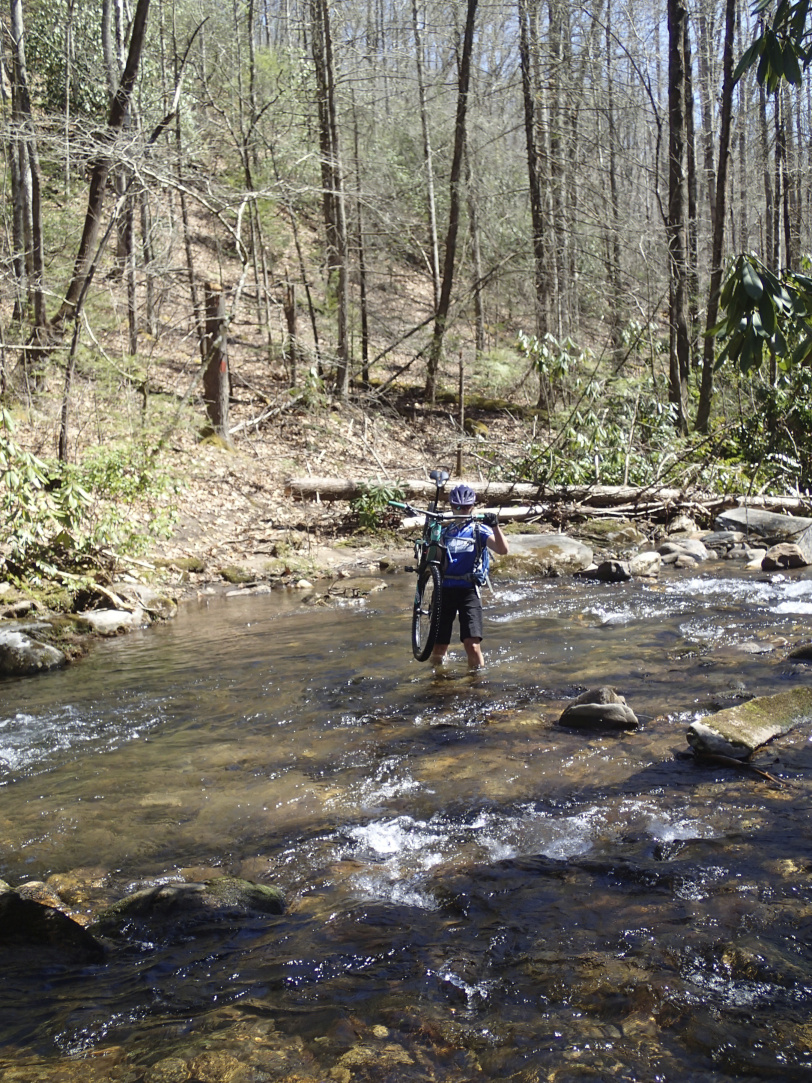 One of the many river crossings of Bradley Creek Trail, off route.