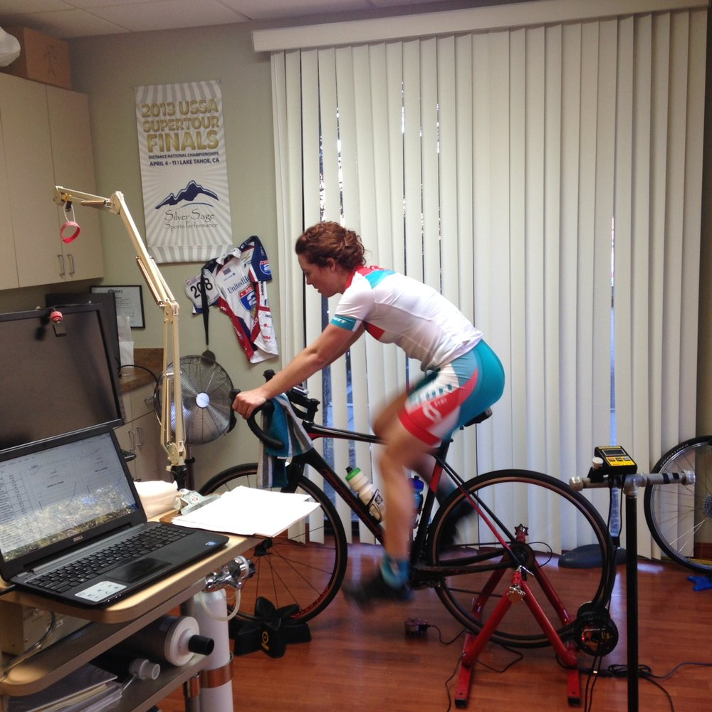 Teal Stetson-Lee learning her lactate threshold levels.