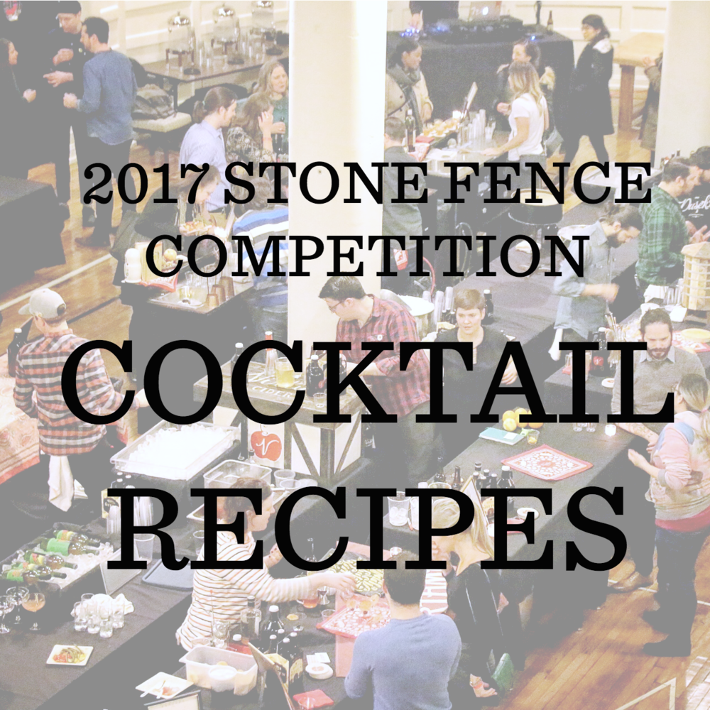 Click through the gallery for cocktail recipes from our participating bartenders at our 3rd Annual Stone Fence Cocktail Competition and Mitten Drive.