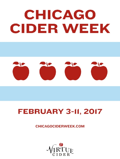 Virtue Cider is participating in the first-ever official Chicago Cider Week, Feb. 3-11, 2017.
