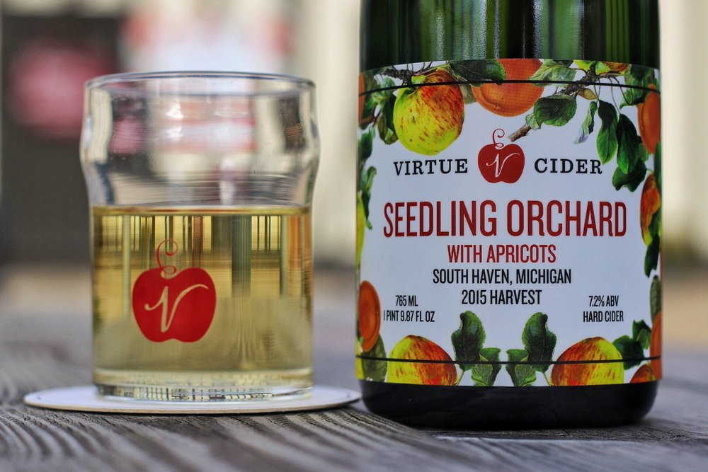 Enjoy tastes from our Orchard Series ciders such as Seedling Orchard with Apricots.