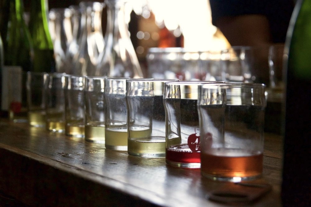 One serious cider flight.