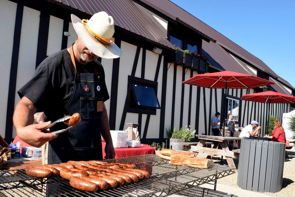 ike cooking sausages.jpg