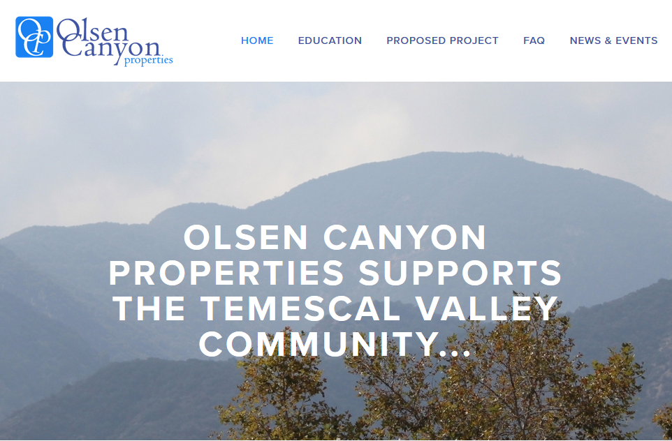 Website for  Olsen Canyon Properties .