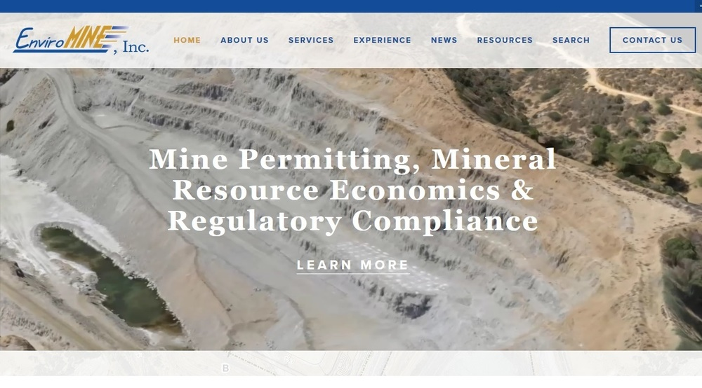 Website for  EnviroMINE, Inc.