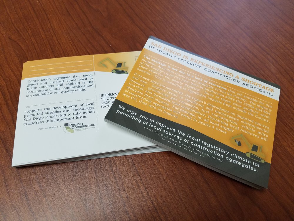 Project Cornerstone Informational Postcards