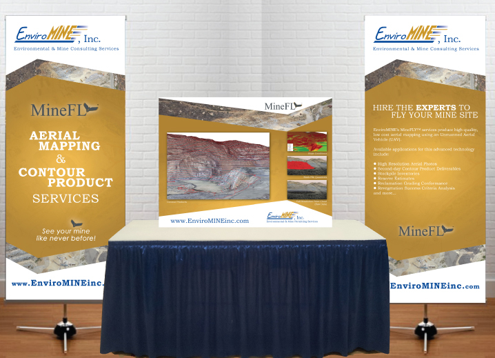 EnviroMINE Vertical Banners and Table Display