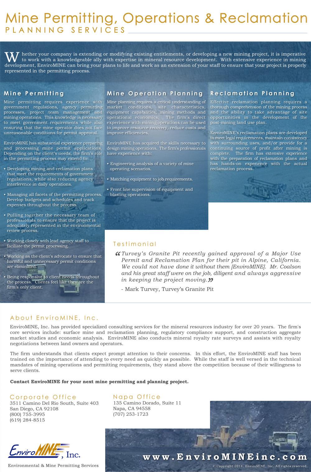 EnviroMINE Marketing Poster