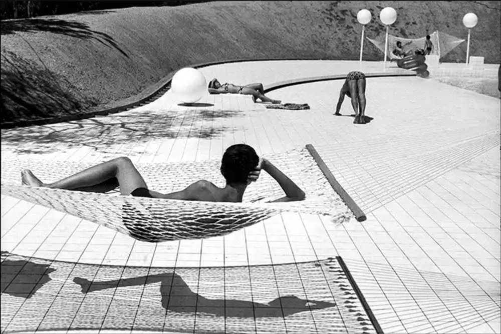 Pool designed by Alain Capeilleres in Le Brusc, Provence, 1976 Photography, Martine Franck.png