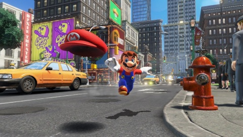 """Super Mario Odyssey"" is the first sandbox game that allows Mario to fully explore his world since ""Super Mario 64"" on Nintendo 64 and ""Super Mario Sunshine"" on Nintendo GameCube. (Graphic: Business Wire)"