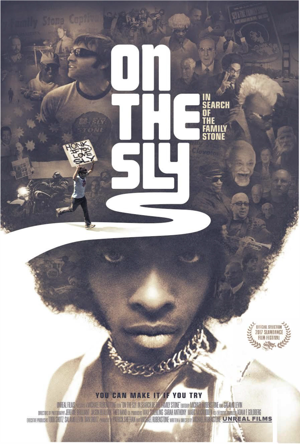 ON THE SLY: In Search of the Family Stone - Director and super-fan Michael Rubenstone sets out in search of long-time reclusive funk legend, Sly Stone. Along the way, he meets with some success, but finds countless more failures in trying to capture a man who refuses to be contained.
