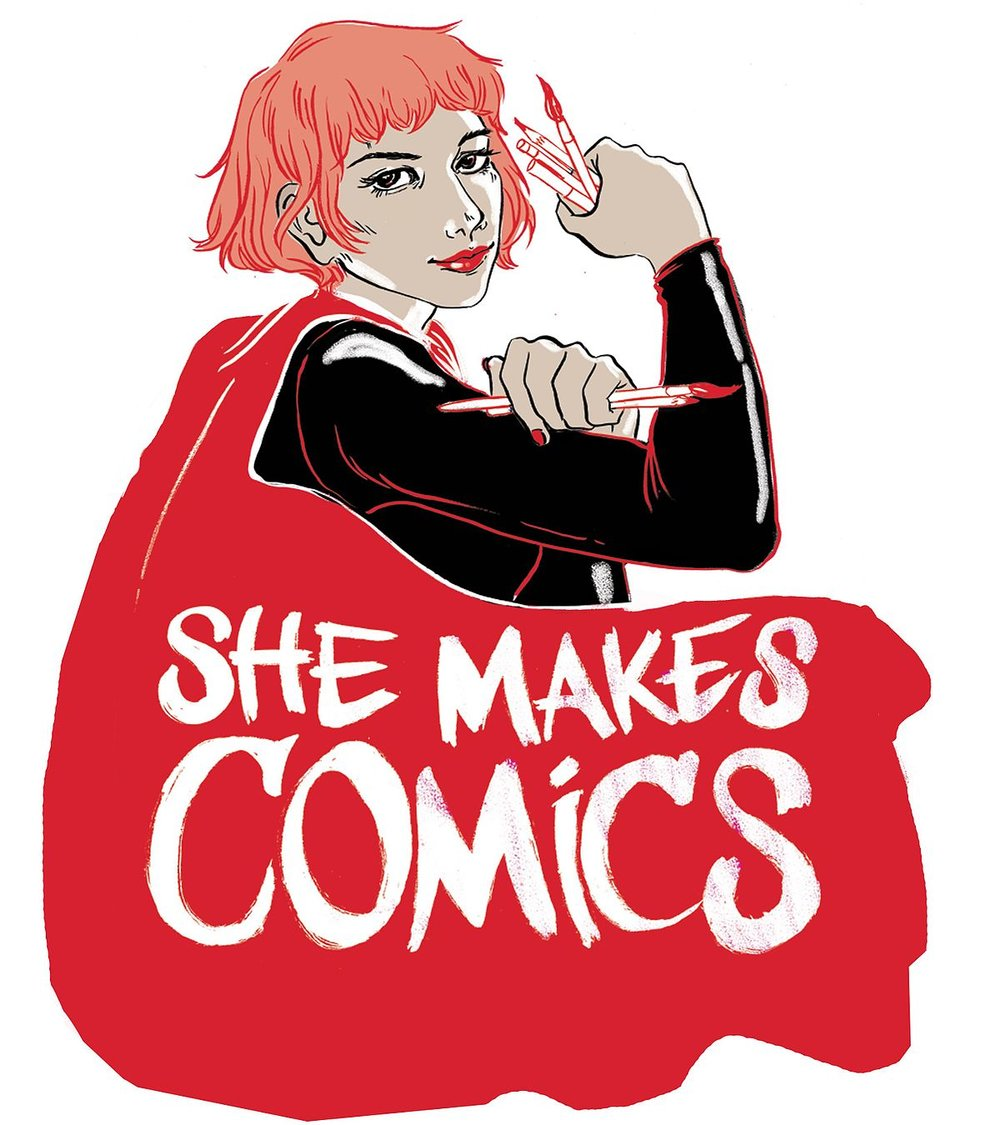 She Makes Comics - The Untold Story of Women in Comics Often forgotten or ignored, women creators have a rich history of achievement in comic books, a business and culture where some gender biases persist. Available Now on NETFLIX