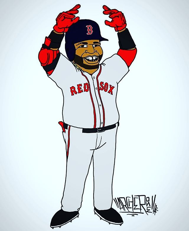 My Bro @archerone laced this 🔥cartoon for Boston's #Goat #BigPapi Right B4 his last game! Follow him and stay tuned 4 the new Heat we got coming in Collaboration with @onegigco ! #AllAnimationEverything #BosAngeles #ItsTheVets We #OnAMission 👊🏽