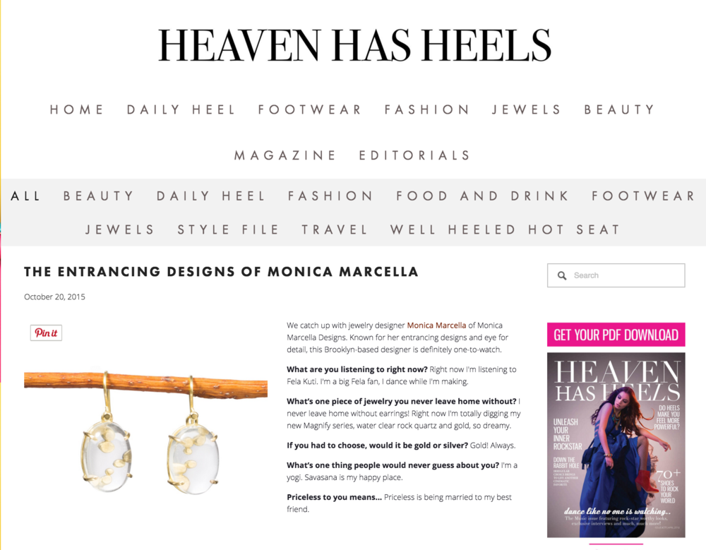 Heaven Has Heels Monica Marcella