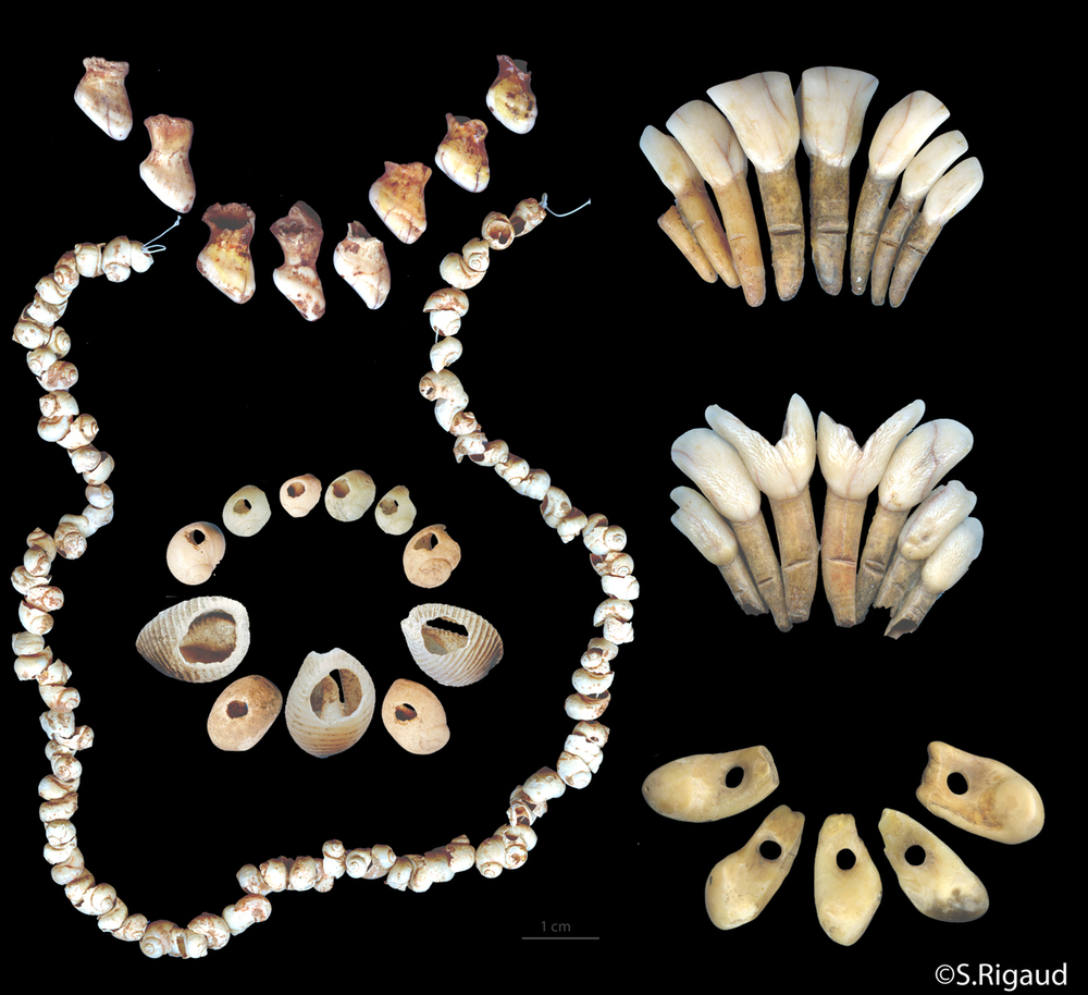 Examples of neolithic jewelry.