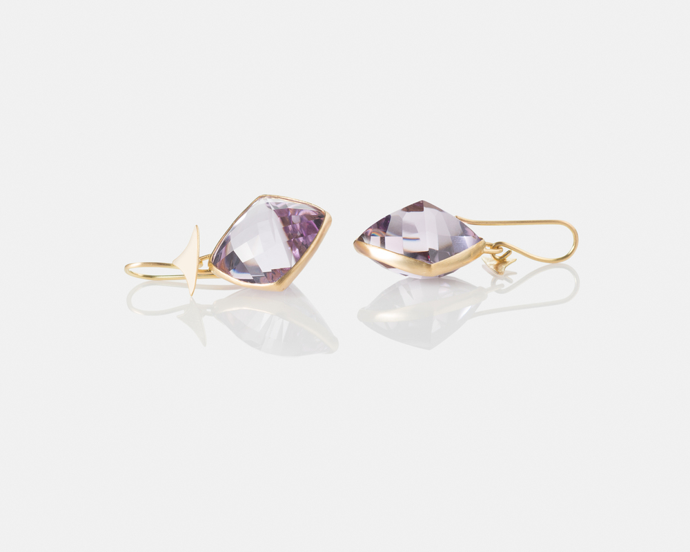 Amethyst-Gold-Earrings-Women-Handmade