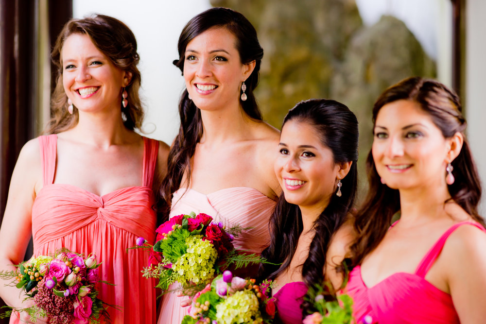 Pink-Ombre-Bridesmaids-Wedding