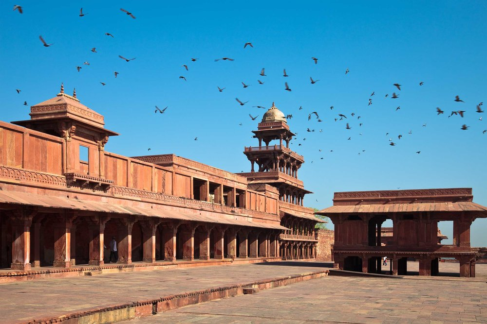 The Panch Mahal, a five storey building renowned for its exceptional architecture, was Emperor Akbar's pleasure palace