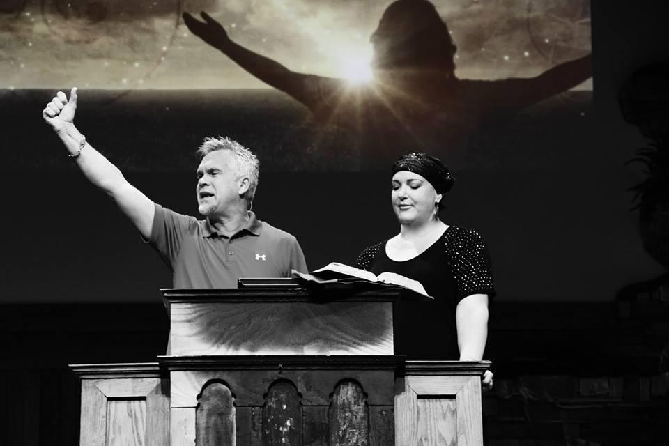 My pastor Steve Berger declaring healing!