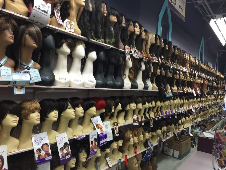 I had a BLAST with wigs. I was like a kid in a candy store in here!