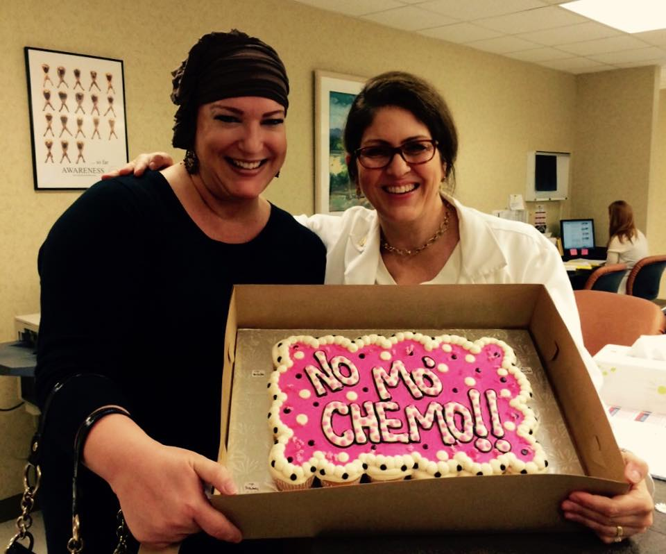 October 2014. My last day of chemo!!! (with my oncologist Dr. Nancy Peacock)