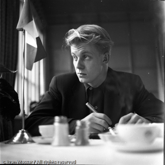 Tore Johnson, Swedish photographer and friend (son of author Eyvind Johnson). Stockholm, Sweden, 1950.